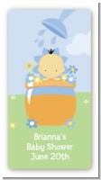 Blooming Baby Boy Asian - Custom Rectangle Baby Shower Sticker/Labels