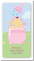 Blooming Baby Girl Asian - Custom Rectangle Baby Shower Sticker/Labels
