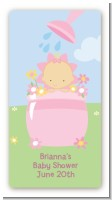 Blooming Baby Girl Caucasian - Custom Rectangle Baby Shower Sticker/Labels