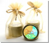 Blowing Bubbles - Birthday Party Gold Tin Candle Favors