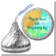 Blowing Bubbles - Hershey Kiss Birthday Party Sticker Labels thumbnail