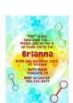 Blowing Bubbles - Birthday Party Petite Invitations thumbnail