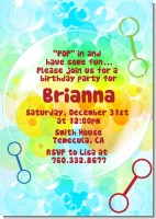 Blowing Bubbles - Birthday Party Invitations