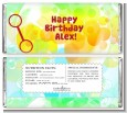 Blowing Bubbles - Personalized Birthday Party Candy Bar Wrappers thumbnail