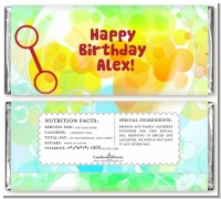 Blowing Bubbles - Personalized Birthday Party Candy Bar Wrappers