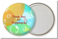 Blowing Bubbles - Personalized Birthday Party Pocket Mirror Favors