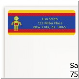 Robot Party - Birthday Party Return Address Labels