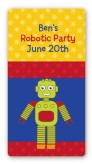 Robot Party - Custom Rectangle Birthday Party Sticker/Labels