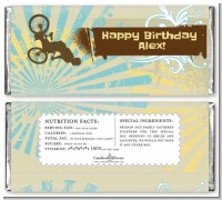 BMX Rider - Personalized Birthday Party Candy Bar Wrappers