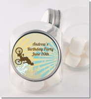 BMX Rider - Personalized Birthday Party Candy Jar
