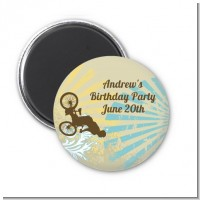 BMX Rider - Personalized Birthday Party Magnet Favors