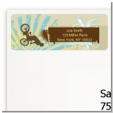BMX Rider - Birthday Party Return Address Labels