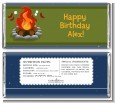 Bonfire - Personalized Birthday Party Candy Bar Wrappers thumbnail