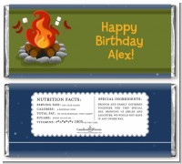 Bonfire - Personalized Birthday Party Candy Bar Wrappers
