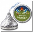 Bonfire - Hershey Kiss Birthday Party Sticker Labels thumbnail