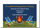 Bonfire - Birthday Party Petite Invitations