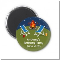 Bonfire - Personalized Birthday Party Magnet Favors