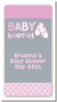 Booties Pink - Custom Rectangle Baby Shower Sticker/Labels
