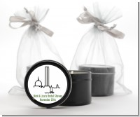 Boston Skyline - Bridal Shower Black Candle Tin Favors