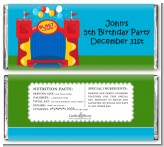 Bounce House - Personalized Birthday Party Candy Bar Wrappers