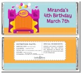 Bounce House Purple and Orange - Personalized Birthday Party Candy Bar Wrappers