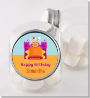 Bounce House Purple and Orange - Personalized Birthday Party Candy Jar