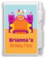 Bounce House Purple and Orange - Birthday Party Personalized Notebook Favor thumbnail