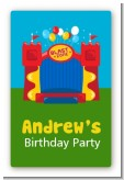 Bounce House - Custom Large Rectangle Birthday Party Sticker/Labels