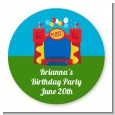 Bounce House - Round Personalized Birthday Party Sticker Labels thumbnail
