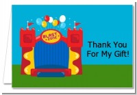 Bounce House - Birthday Party Thank You Cards