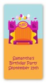Bounce House Purple and Orange - Custom Rectangle Birthday Party Sticker/Labels