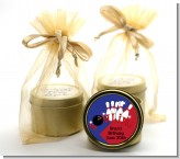 Bowling Boy - Birthday Party Gold Tin Candle Favors