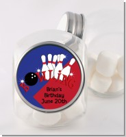 Bowling Boy - Personalized Birthday Party Candy Jar
