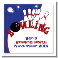 Bowling Boy - Personalized Birthday Party Card Stock Favor Tags thumbnail