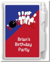 Bowling Boy - Birthday Party Personalized Notebook Favor