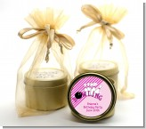Bowling Girl - Birthday Party Gold Tin Candle Favors