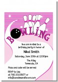 Bowling Girl - Birthday Party Petite Invitations