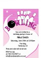 Bowling Girl - Birthday Party Petite Invitations thumbnail