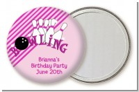 Bowling Girl - Personalized Birthday Party Pocket Mirror Favors