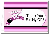 Bowling Girl - Birthday Party Thank You Cards