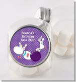 Bowling Party - Personalized Birthday Party Candy Jar