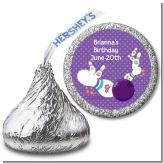 Bowling Party - Hershey Kiss Birthday Party Sticker Labels