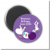Bowling Party - Personalized Birthday Party Magnet Favors