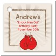 Boxing Gloves - Personalized Birthday Party Card Stock Favor Tags thumbnail