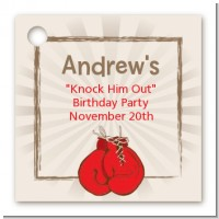 Boxing Gloves - Personalized Birthday Party Card Stock Favor Tags