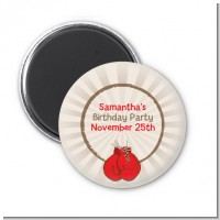 Boxing Gloves - Personalized Birthday Party Magnet Favors