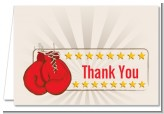 Boxing Gloves - Birthday Party Thank You Cards