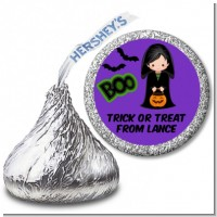 Boy Cape Costume - Hershey Kiss Halloween Sticker Labels