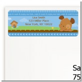 Puppy Dog Tails Boy - Baby Shower Return Address Labels