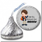 Boy Student - Hershey Kiss School Sticker Labels